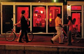 Interview with a prostitute in Amsterdam's red light district.