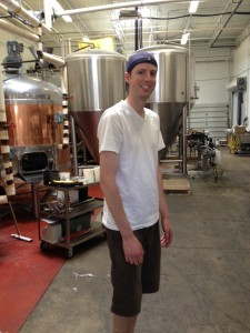 Nick in his element of making beer.