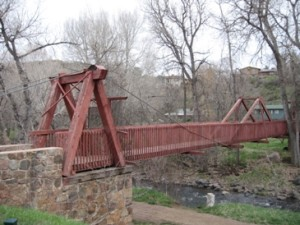 Bridge along walking path in Morrison, Colorado