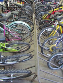 Bikes at Denver Police Bicycle Auction