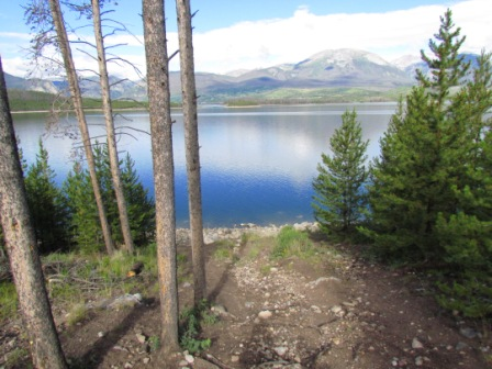 Lake Dillon from Prospector Campground