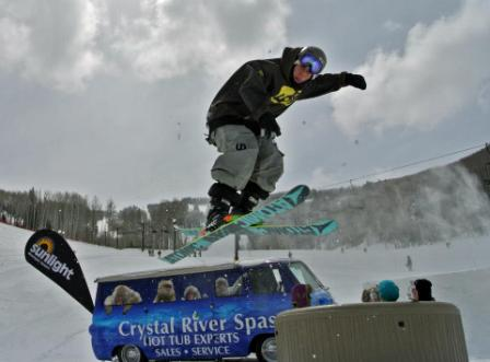 Jumping Over Hot Chicks in Hot Tubs, Spring Thing, Sunlight Mountain
