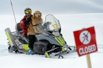 Henry gets a lift from Vail Ski Patrol
