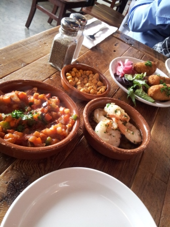 Tapas from La Feria, a Spanish restaurant located in Midtown
