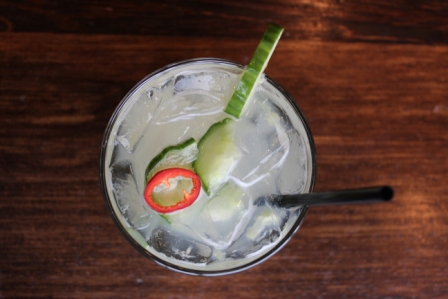 Spicy Cucumber Cocktail from La Biblioteca