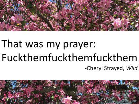 That was my prayer fuckthemthemfuckthem cheryl strayed quotes