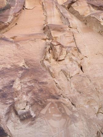 pteroglyphs found on trail on the way to josies cabin dinosaur national monument utah 2