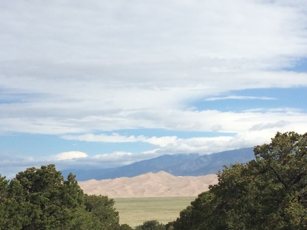 view from oasis campground of great sand dunes national park colorado 2